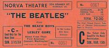 original unused ticket for telecast of The Beatles first American concert 03/64