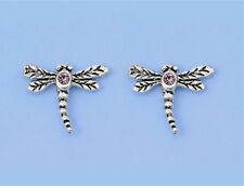 Silver Tiny Dragonfly Stud Earrings Sterling Silver 925 Best Deal Plain Jewelry