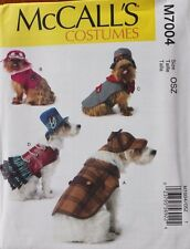 DOG CLOTHES COAT COSTUME McCall's Pattern 7004 NEW S-XL