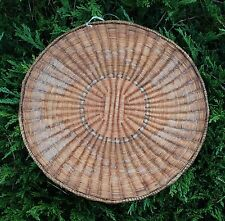 "Antique Hopi Wicker Indian Basket 13""d from a California estate"