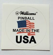Williams Pinball Made In USA Decal For Playfield Glass