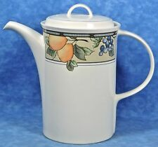 Mikasa Intaglio GARDEN HARVEST 5 Cup Coffee Pot #CAC-29- Fruits & Leaves- EUC