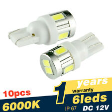 10x T10 501 W5W 6 LED 5630 SMD Side Light Bulbs Parking Lamp 12V Super Bright