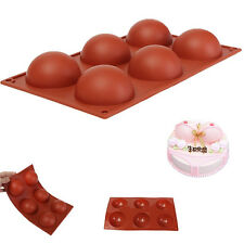 Silicone Half Ball Sphere Chocolate Cake Soap Muffin Pastry JellY Mold DIY Tray