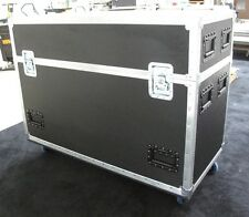 "65"" LCD LED Plasma TV Custom Dual Road Case Made in USA"