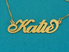 Real Gold Name Necklace, 10k Gold chain, 9k Gold name necklace, ORDER ANY NAME!