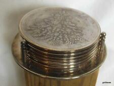 Silver Plate Coasters in Holder Christmas Tree