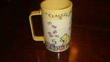 Winnie The Pooh Plastic Drink Cup With Pictures Butterflies and Numbers