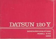 DATSUN  120Y   B210  Betriebsanleitung  1974  Bordbuch  Bedienungsanleitung   BA