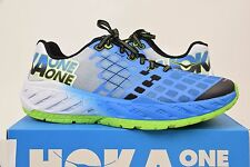 Mens Hoka One Clayton ROAD RACE Running Shoes 11.5 Bright Green French Blue