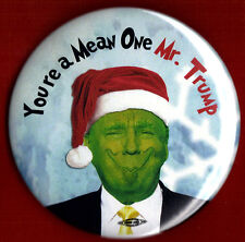 "2016 Anti Donald Trump  3""(Large Size)  / ""The Grinch"" Button(Pin 08L)"