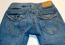 TRUE RELIGION Ladies Jeans 24 x 29 FLAP POCKETS TWISTED SEAMS Womens TRU24