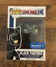 Funko Pop Walmart Exclusive Glitter Black Panther 130 Civil War (free Shipping)