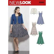 NEW LOOK Sewing Pattern Misses Ladies Womens Plus Dress+Bolero Sz 8-18 ~6390