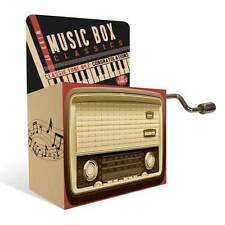 Mini Mechanical Wind-Up Music Box - Plays Happy Birthday Gift Idea Free Uk P&P