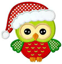 20  WATER SLIDE NAIL  DECALS TRANSFERS CUTE CHRISTMAS OWL  5/8 TH INCH