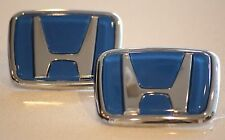 Blue Honda Emblem Set JDM Type CIVIC ACCORD INTEGRA  92 93 94 95 96 97 98 99 00
