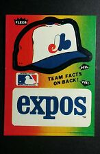 MONTREAL EXPOS TEAM LOGO HAT LOT OF 2PCS ON 1 CATD BASEBALL TRADING CARD STICKER
