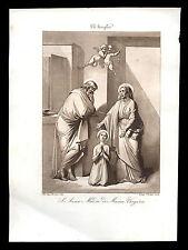 santino incisione acquatinta 1800 S.ANNA