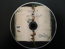 LIBRARY ON WITCHCRAFT DVD BOOKS WITCH DEMON OCCULT