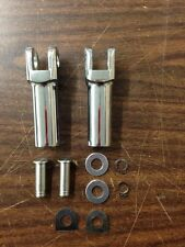 CHROME PASSENGER FOOTPEG CLEVIS MALE MOUNT FOOT PEGS HARLEY SOFTAIL FXST 2007-UP