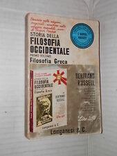 STORIA DELLA FILOSOFIA OCCIDENTALE Vol I Bertrand Russell Longanesi 1966 libro