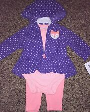 NWT Carter's Girl Clothing LOT Top Pants Jacket Pink Purple Fox 6 months