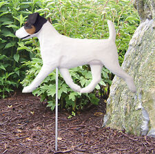 Jack Russell Terrier Outdoor Garden Dog Sign Hand Painted Figure Tri