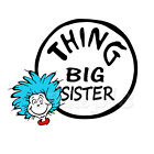 THING BIG SISTER IRON ON TRANSFER
