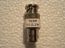 Coaxial BNC Terminator Feed Through 50 Ohm 2 Watt