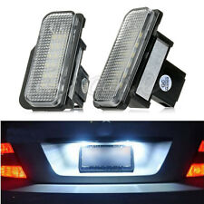 2PCS White License Plate LED Light Error Free For Mercedes Benz W203 W211 W219