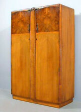 Antique Victorian Burl Walnut Wardrobe Armoire Cabinet