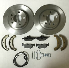 BMW E90 320D 05-12 Rear Brake Discs,Pads,Inc Wear Indicator,Shoes & Fitting Kit