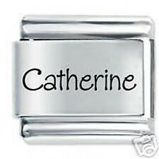 CATHERINE Name -9mm Daisy Charm by JSC Fits Classic Size Italian Charms Bracelet