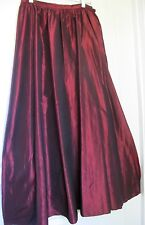 Brooks Brothers Long 100% Silk Taffeta Vintage Cranberry Skirt.  Size 6