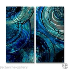 Blue Moons Metal Art by Erin Ashley Contemporary Home Decor Wall Sculpture