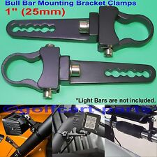 1 inch Tube Bull Bar/Roll Bar Mount Bracket Clamps for Off Road LED Light Bar