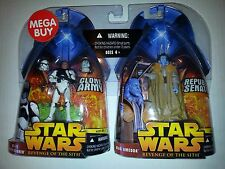 STAR WARS EPIII ROTS MEGA BUY: AT-TE TANK GUNNER & MAS AMEDDA  2-PACK
