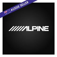Alpine Car Audio Sticker Decal WHITE 200mm Suit JDM FPV HSV GT Car Stereo