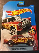 Hot Wheels 55 Chevy Bel Air Gasser CUSTOM Super with Redline Real Riders