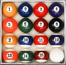 Pool Table Billiard Ball Set Game Room Bar Garage Art Number Style Deluxe 6 OZ