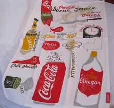 NOW DESIGNS TEA TOWEL Coca Cola BBQ Sauce Recipe COKE DRINK NWT 100% COTTON