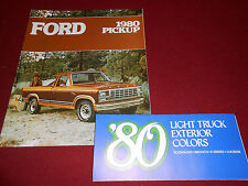1980 FORD PICKUP TRUCK F-100, F-250, F-350 CATALOG + PAINT COLOR CHIPS BROCHURE