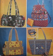 McCall's 4118 Quilted Handbags Totes Purse Bags Backpack Sewing Pattern Uncut FF