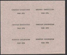 GB Locals - Pabay or Stroma (985) 1970 European Conservation opt PROOF sheet