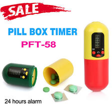 Health Care Digital Pill Medicine Box Timer With Buzzer Alarm Reminder Container