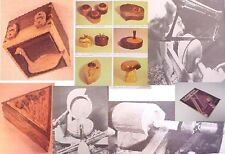 MAKING Sm.WOOD BX~TOOL WORK LATHE TURNING JEWELRY MUSIC ART CAT DESIGN~PLANS lid