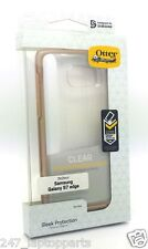 Genuine Otterbox Symmetry DropProof Gold Clear Case For Samsung Galaxy S7 Edge