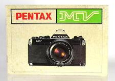 Pentax MV Bedienungsanleitung/german instructions 37 Seiten - (0944)