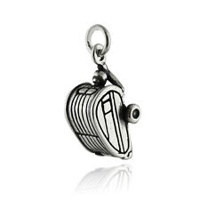 Travel Trailer Charm - 925 Sterling Silver - 3D Camping Vacation RV Woods NEW